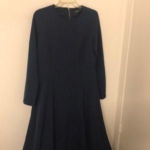 Inayah Modest Long Sleeve Navy Blue Maxi Dress